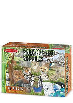 Melissa & Doug Endangered Species Floor Puzzle 48-Piece - Online Only