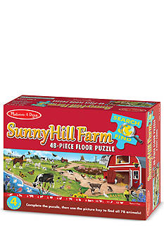 Melissa & Doug Search & Find Sunny Hill Farm Floor Puzzle 48-Piece - Online Only