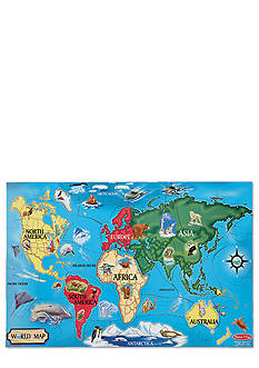 Melissa & Doug World Map 33-Piece Floor Puzzle - Online Only