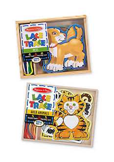 Melissa & Doug Lace & Trace Bundle- Pets & Wild Animals