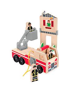 Melissa & Doug Whittle World Fire Rescue Play Set