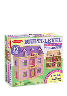 Melissa & Doug Multi Level Wooden Dollhouse - Online Only