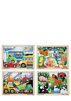 Melissa & Doug Jigsaw Puzzle Bundle Set of 4 - Online Only