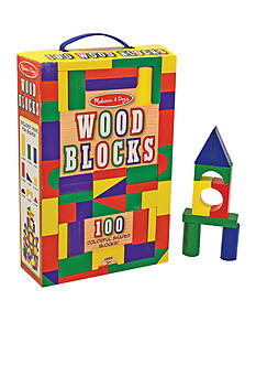 Melissa & Doug 100 Piece Wood Blocks Set - Online Only