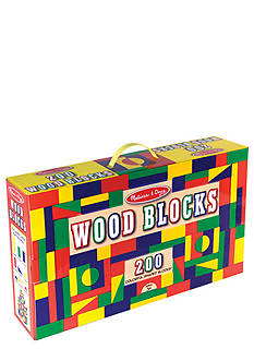 Melissa & Doug 200-Piece Wood Blocks Set - Online Only