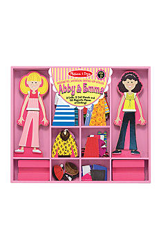 Melissa & Doug Abby & Emma Deluxe Magnetic Dress-Up - Online Only