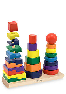 Melissa & Doug Wooden Geometric Stackers