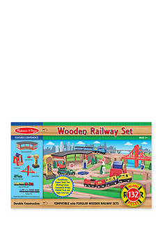 Melissa & Doug Wood Railway Set - Online Only