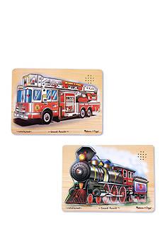 Melissa & Doug Vehicle Sound Puzzle Bundle