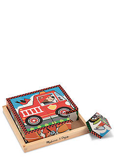 Melissa & Doug Vehicle Cube Puzzle Set