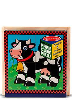 Melissa & Doug Farm Cube Puzzle - Online Only