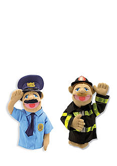 Melissa & Doug Police Officer And Firefighter Puppet Bundle