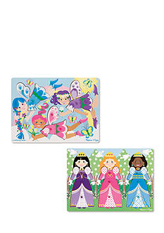 Melissa & Doug Peg Puzzle Bundle- Princesses and Fairies