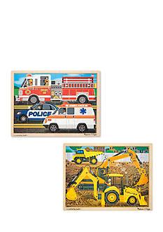 Melissa & Doug 24 Piece Jigsaw Bundle- Construction & Rescue