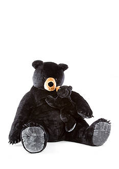 Melissa & Doug Black Bear N Cub Plush-Online Only