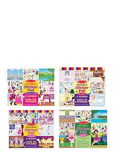 Melissa & Doug Fairy, Princess, Dress-Up, And Play House Reusable Sticker Pad Bundle