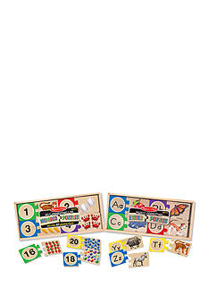 Melissa & Doug Self-Correcting Letters And Numbers Puzzle Bundle