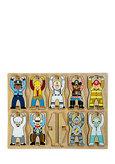 Melissa & Doug Stacking Chunky Occupations-Online Only