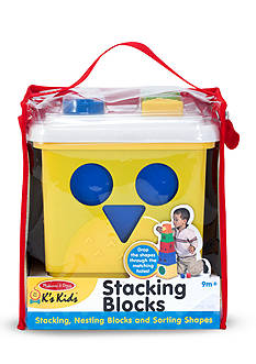 Melissa & Doug Kids Stacking Blocks-Online Only