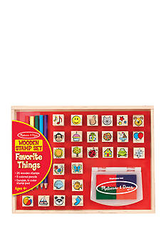 Melissa & Doug® Wood Favorite Things Stamp Set-Online Only