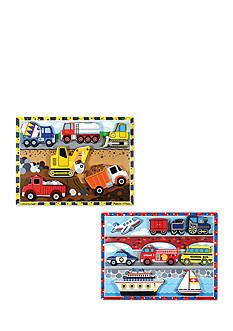 Melissa & Doug Chunky Bundle- Vehicles & Construction