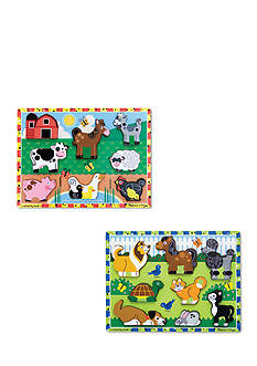 Melissa & Doug Chunky Bundle- Farm & Pets