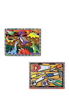 Melissa & Doug Chunky Bundle - Tools & Dinosaurs
