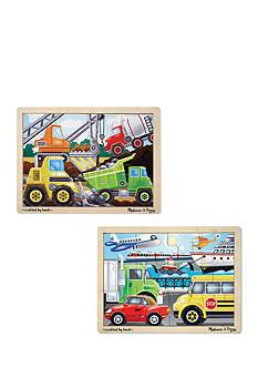 Melissa & Doug 12-piece Jigsaw Bundle- Vehicles & Construction