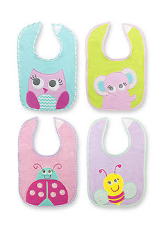 Nursery Rhyme 4-Pack Animal Bib Set