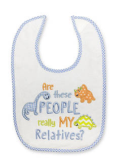 Nursery Rhyme Embroidered Message Bib