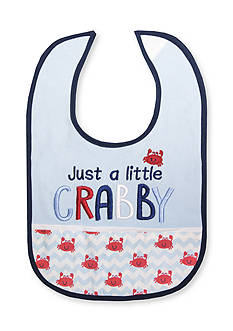 Nursery Rhyme Embroidered Crab Bib