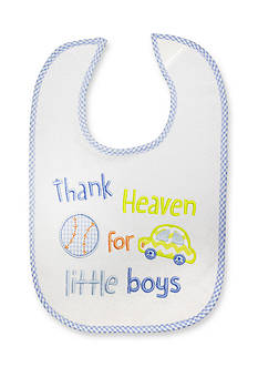 Nursery Rhyme Thank Heaven For Little Boys Bib
