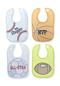 Nursery Rhyme 4-Pack Sports Bib Set