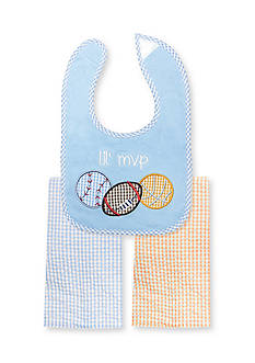 Nursery Rhyme 3-Piece MVP Sports Bib and Burp Cloths Set