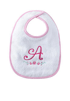 Nursery Rhyme® Girl Initial A Bib
