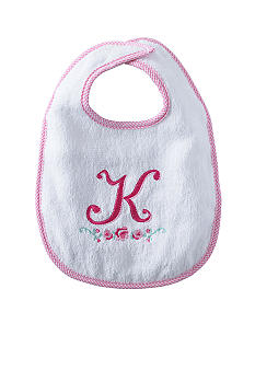 Nursery Rhyme® Girl Initial K Bib