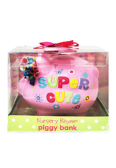 Nursery Rhyme Super Cute Ceramic Piggy Bank
