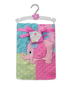 Nursery Rhyme Mixed Pattern Elephant Baby Blanket
