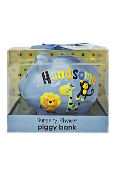 Nursery Rhyme Handsome Ceramic Piggy Bank