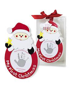 Nursery Rhyme First Christmas Handprint Frame Ornament