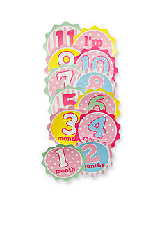 Nursery Rhyme 12 Pack Multi-Print Month Stickers