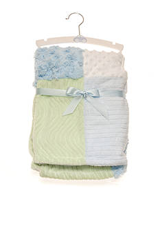 Nursery Rhyme Blue Patchwork Blanket