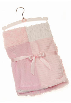 Nursery Rhyme Pink Patchwork Blanket