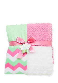 Nursery Rhyme Plush Patchwork Blanket