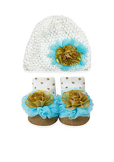 Nursery Rhyme 2-Piece Knit Hat and Sock Set