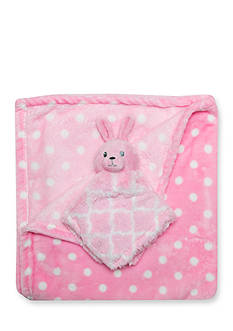 Nursery Rhyme 2-Piece Dot Blanket and Snuggy Plush Toy Set