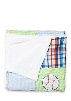 Nursery Rhyme Baseball Patchwork Blanket