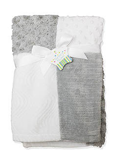 Nursery Rhyme Gray Patchwork Blanket