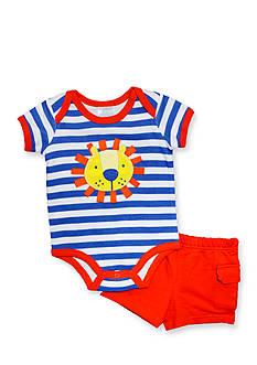 Nursery Rhyme 2-Piece Lion Bodysuit and Shorts Set