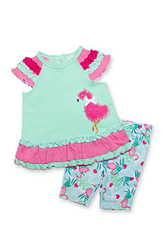 Nursery Rhyme 2-Piece Flamingo Novelty Leggings Set